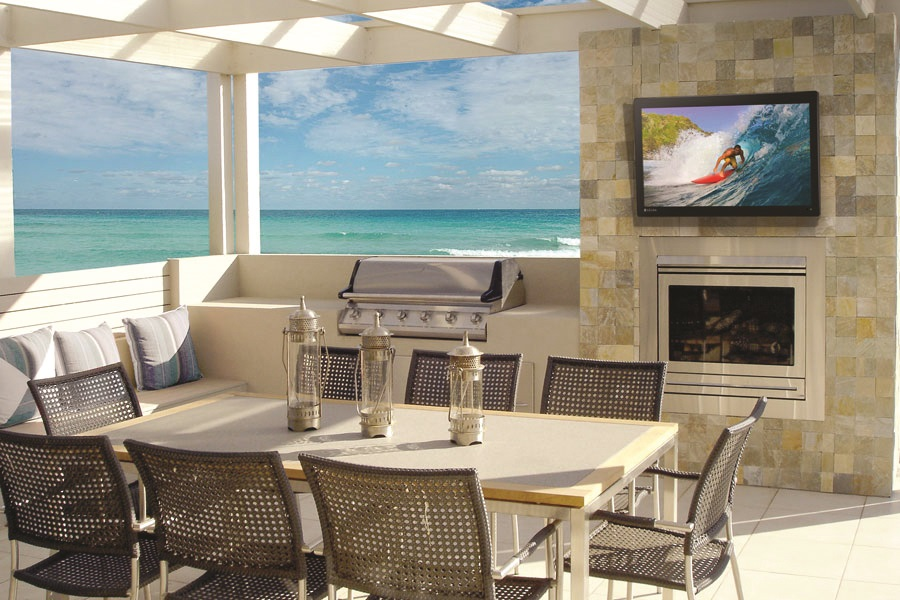 COMPLETE YOUR MALIBU HOME WITH OUTDOOR AUDIO VIDEO